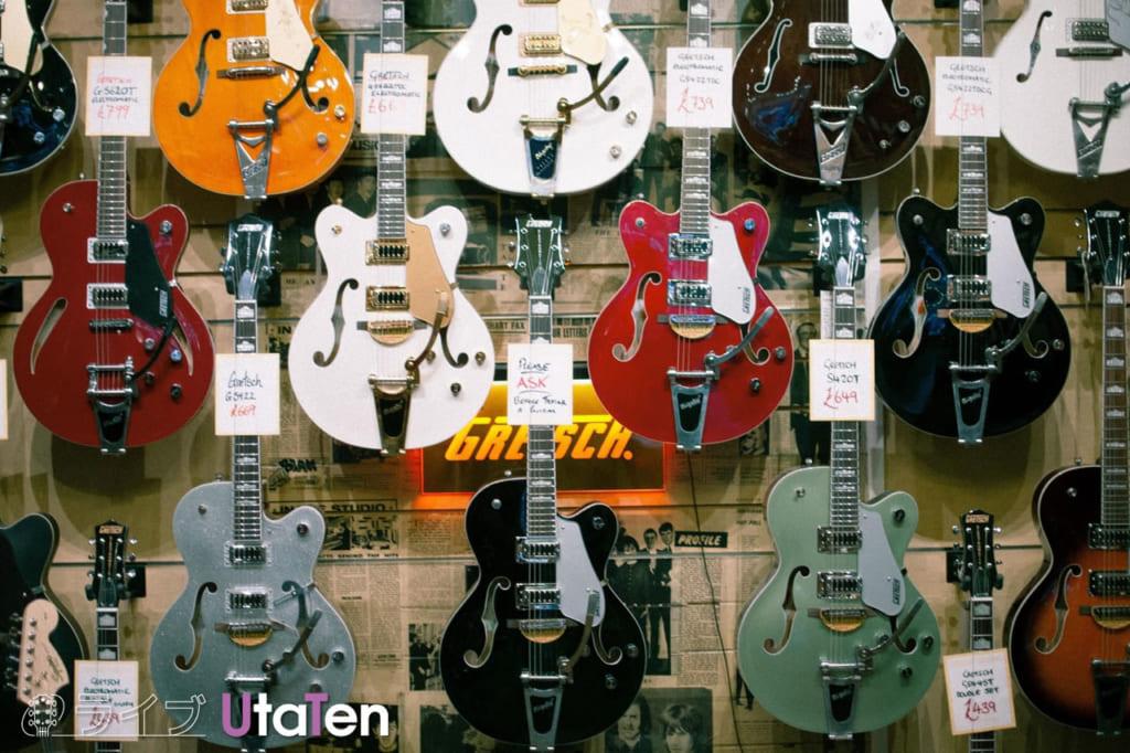 軽音で使うギターの種類
